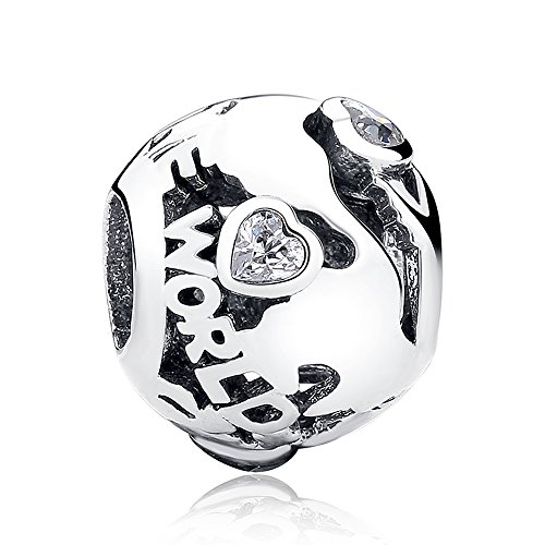 The Kiss Around The World Places of Interest Holiday Vacation Travel Enamel 925 Sterling Silver Bead Fits European Charm Bracelet (Around The World) ()