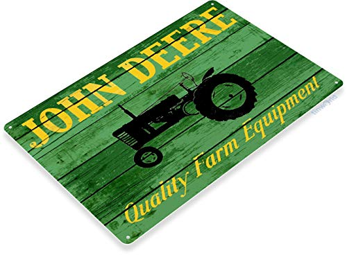 Tinworld Tin Sign John Deere Tractor Rustic Farm Equipment Store Metal Sign Decor Shop Garage Cave B628