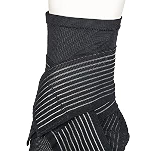 Active Ankle 329 Ankle Brace, Ankle Stabilizer Compression Sleeve with Straps, Braces for Volleyball, Football, Basketball, Rugby, Compression Sock for Protection & Sprain Support, Black, X-Large