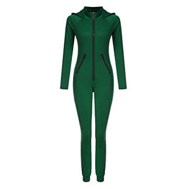 best loved b4854 fac5a FRAUIT Damen Basic Jumpsuits Ganzkörperanzug Einteiler One ...