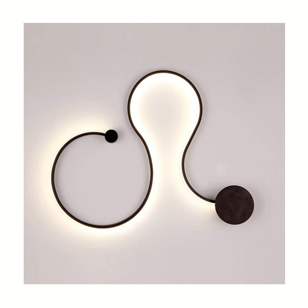 屋内用壁面ライト ウォールランプポストモダンクリエイティブDIYステッチングリビングルームレストランカフェウォールライト [エネルギーレベルA ++] (色 : ブラック, サイズ さいず : 65cm) B07RRB8PHZ ブラック 65cm
