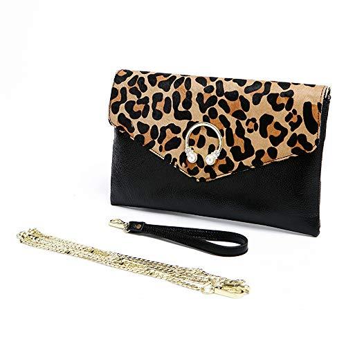 da donna leopardata il con tracolla elegante pochette per a tracolla libero pochette con tempo a da sera stampa Borsa wxtOpqEx