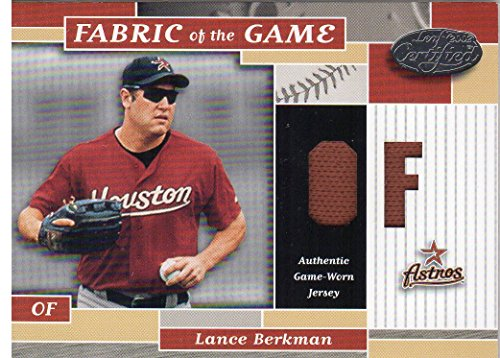 2002 Leaf Certified Fabric of the Game #90PS Lance Berkman Jersey /25 - NM-MT
