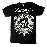 Machine Head Lion Crest MH Logo Mens Black T Shirt (L)