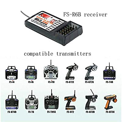 S-snail FS FS-R6B 2.4G 6 Channel Receiver Radio Model Remote Control Receiver for RC Car FS-TH9X: Home Audio & Theater