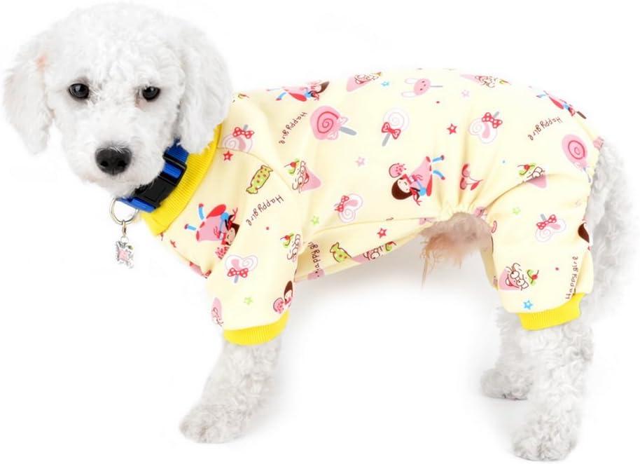 SELMAI - Mono de forro polar para perro pequeño con forro polar para cachorro invierno pijamas ropa interior de franela cálida para mascotas perros gatitos Yorkie Chihuahua accesorios de ropa XXL