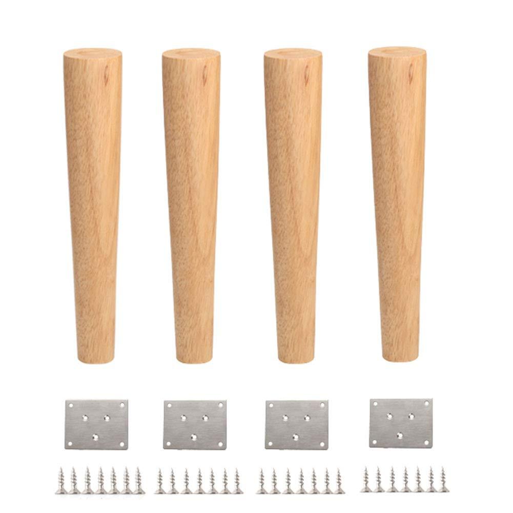 背の高い家具テーブル脚x 4、長いソリッドウッドのソファースツールチェアデスクストレート脚、DIYのアクセサリー、高さ3090 cm B07MB15NHQ  60cm/23.6in
