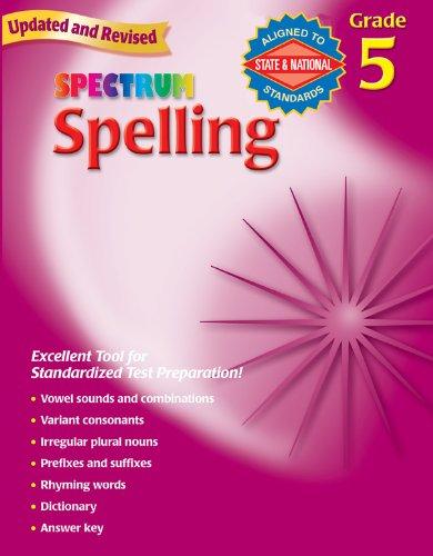 Spectrum Spelling, Grade 5