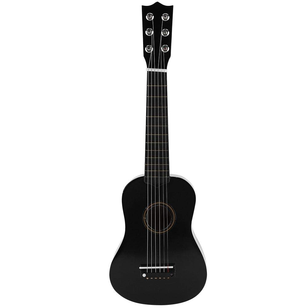 Kids Guitar 21 Inches Wooden Color Classic Children Acoustic Guitar Kids Mini Guitar Musical Instrumental Toy for Kids Children Boys Girls Beginners(Black) by GOTOTOP
