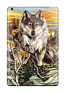 Ipad Mini 2 Well-designed Hard Case Cover Wolf Protector 4826360J98912901