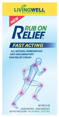 Rub On Relief 3 Oz Natural Anti Inflammatory Pain