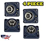 4 Pieces- UCF201-8 Pillow Block Bearing 1/2 inch Size Bore, 4-Bolt Flange, Solid Base, Self-Alignment