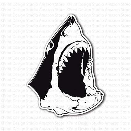 Shark jaws. Great white head sticker