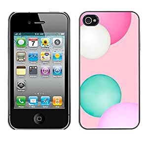 Jordan Colourful Shop - Pink Balls Fitness Winter Pattern For iPhone 4 / 4S Personalizado negro cubierta de la caja de pl????stico