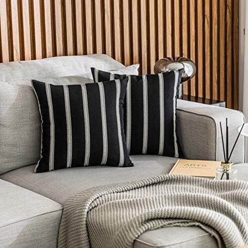 Blue Striped Pillow Farmhouse Decor Modern Farmhouse Pillow Cover