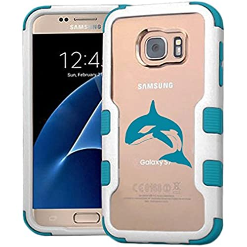 Galaxy S7 Case Wale, Extra Shock-Absorb Clear back panel + Engineered TPU bumper 3 layer protection for Samsung Galaxy S7 (New 2016) Blue Cover (Wale Blue) Sales