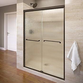 Basco Infinity Semi-Frameless Sliding Shower Door, Fits 44