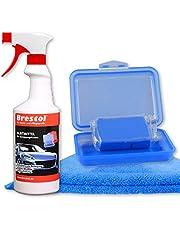 Brestol– Juego de masa limpiadora200g, masa azul de potencia media + caja + 1 botella de 750ml de lubricante especial + 1 gamuza –masa de barniz para coche, elimina la resina de los árboles, los insectos, etc.