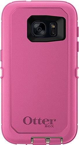 OtterBox Defender Series Case for Samsung Galaxy S7 (ONLY) Case Only/No Holster - Non-Retail Packaging - Sand/Hibiscus Pink