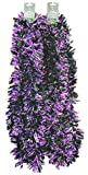 Momentum Brands 9' Halloween Party Decorative Tinsel Garland - 2 pc 18 feet Total (Black/Purple)