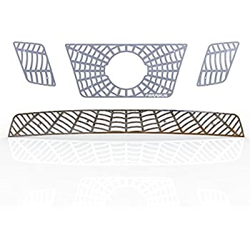 2009-2015 Nissan Frontier TRK-135-07-Chrome-a Ferreus Industries Grille Insert Guard Spiderweb Polished Stainless fits