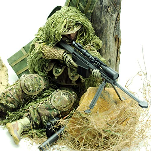 HMANE 12Inch 1:6 Scale Realistic Soldier Model Toy Doll Movable Joint Bendable Action Figure Desert Camouflage Military Soldier Model - (All Terrain Sniper)