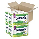 Cottonelle GentleCare Toilet Paper, Bath Tissue, Aloe & Vitamin E, 48 Double Rolls