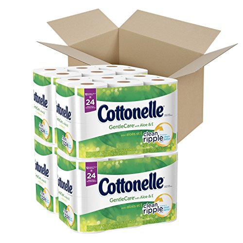 Cottonelle Ultra GentleCare Toilet Paper, Sensitive Bath Tissue, 48 Double Rolls