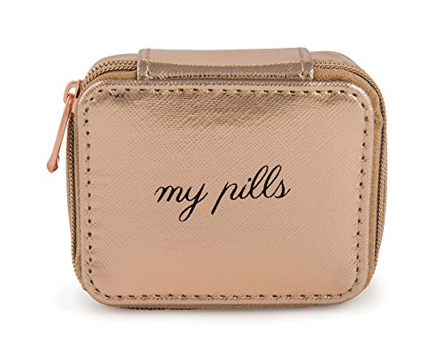 Miamica Women's Pill Case, Rose Gold (Package Lost By Carrier)