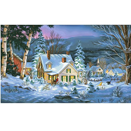 Elevin(TM)2018Christmas 5D DIY Rhinestone Diamond Embroid Painting Counted Paint By Number Kits Cross Stitch (A)