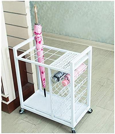 Giow Schirmständer aus Schmiedeeisen, modisch, robust und langlebig, große Kapazität, für Hotel zu Hause (Farbe: braun) braun