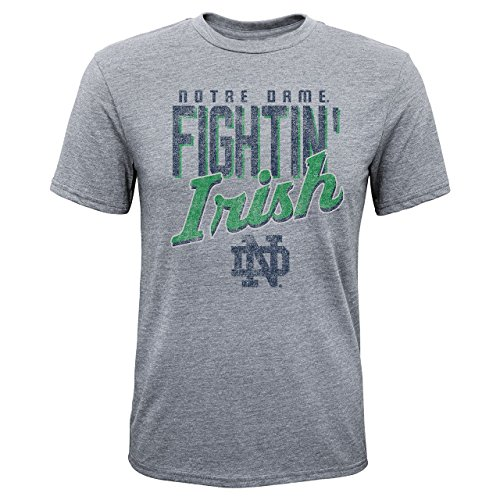 adidas Notre Dame Fighting Irish Youth NCAA Rally Anthem T-Shirt - Gray, Youth ()