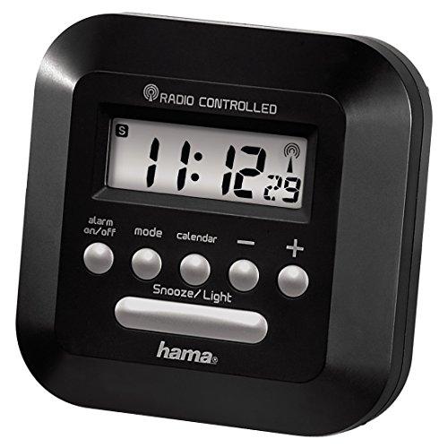 Hama Funkwecker RC 40, mit Hintergrundbeleuchtung, Uhr-/Kalender- und Weckfunktion, schwarz