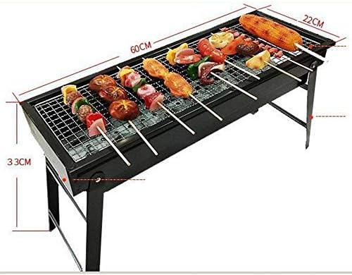 YDYG Barbecue au charbon de bois pliable, portable et léger, en acier inoxydable, facile à assembler et à nettoyer, pour le camping, les pique-niques, la cuisine, la randonnée