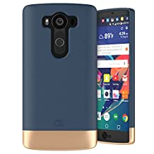 LG V10 Case, Encased Ultra Thin (2016 SlimShield Edition) Full Coverage, Hybrid Tough Shell (Deep Blue)