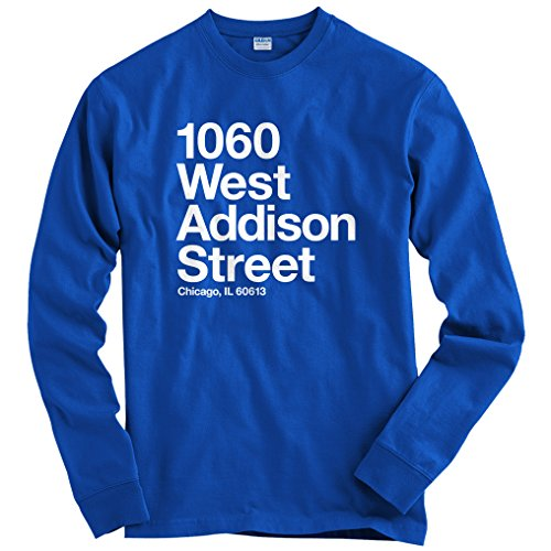 Stadium Baseball Chicago - Smash Transit Men's Chicago Baseball Stadium NS Long Sleeve T-Shirt - Royal Blue, Medium