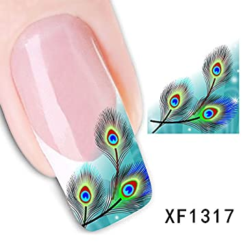 Amazon 3d nail art tips stickers false nail design manicure 3d nail art tips stickers false nail design manicure decals nail art water nail art decal prinsesfo Image collections
