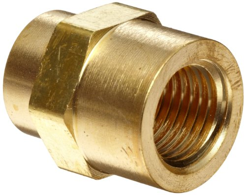 Parker Brass Pipe Fitting, Hex Coupling, 1/4