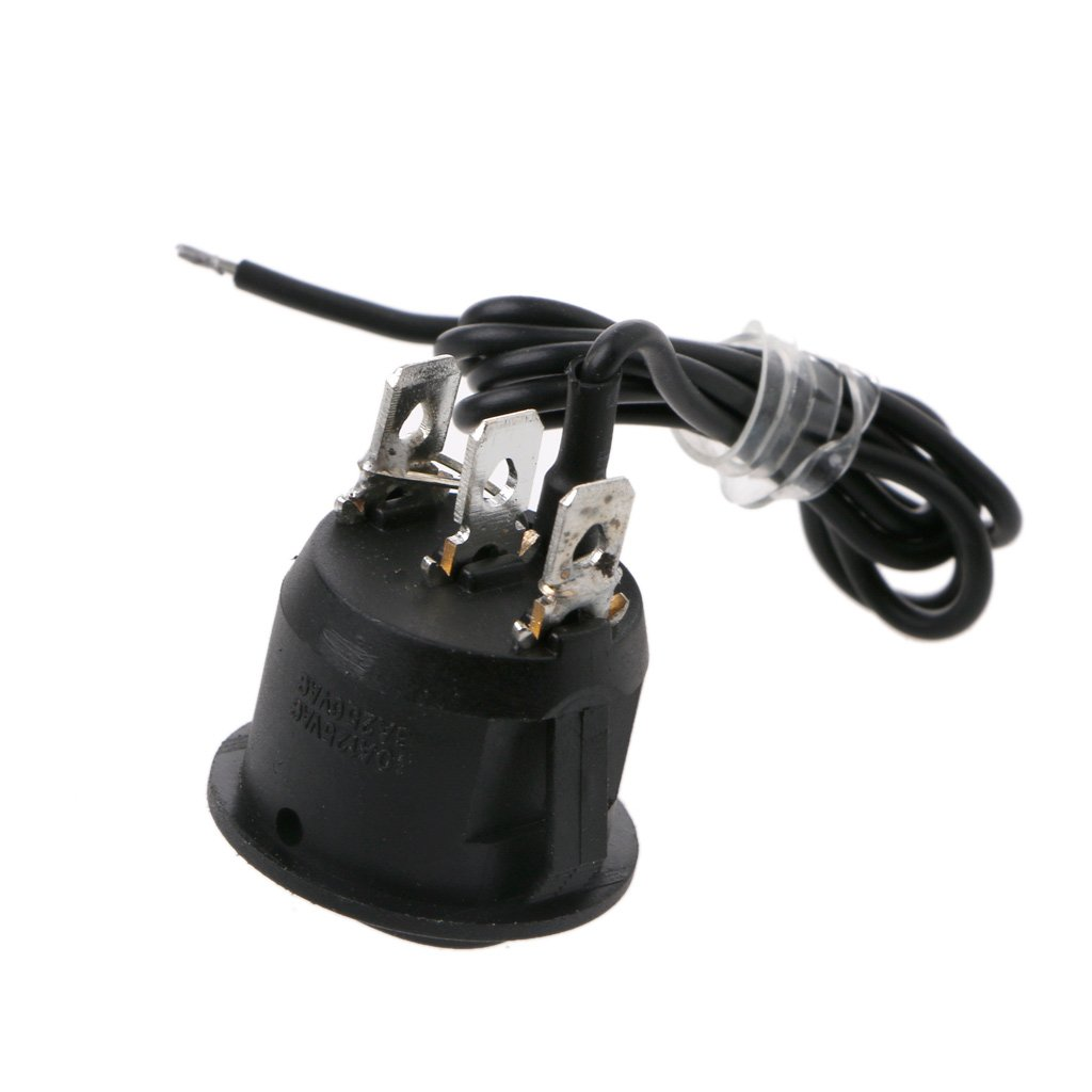 Xuniu 12V Universal 3 Pines Calentador Redondo Motocicleta Asiento de autom/óvil Control del Interruptor basculante Encendido//Apagado