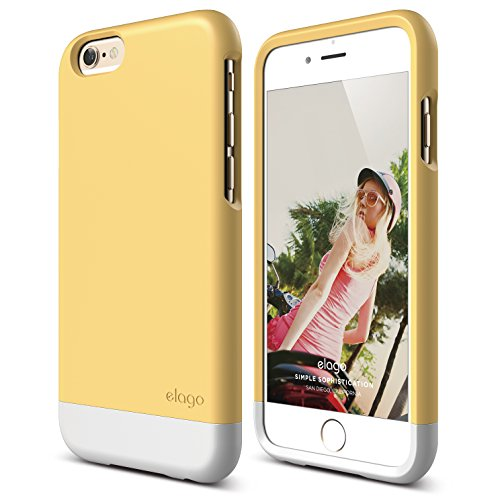 iPhone 6 Case, elago [Glide Limited-Edition][Creamy Yellow / White] - [Mix and Match][Premium Armor][True Fit] - for iPhone 6 Only