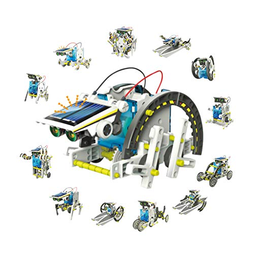 Ktyssp DIY Environmentally Friendly Puzzle Solar Robot 13-in-1 Assembled Toy Model Professional