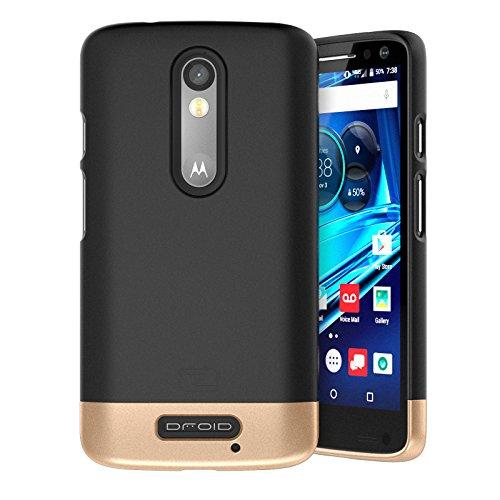 Motorola Droid TURBO 2 Case, Encased (SlimSHIELD Edition) Ultra Slim Cover (full coverage) Hybrid Slider Shell (Smooth Black) (Slim Ultra Hardshell)