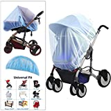 Universal Bug Mosquito Net for Baby Strollers, Carriers, Car Seats, Cradles and more