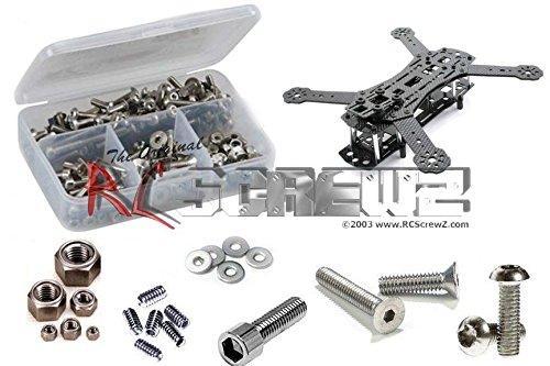 RCScrewZ Aerial Freaks Vector 250 Pro FPV/Multicoptor Stainless Steel Screw Kit (Kit Stainless Freak Steel)