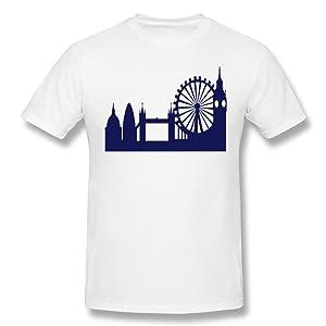HM Men's Tees The London Eye Size L White