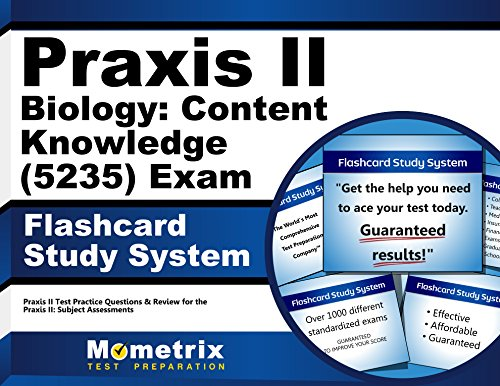 Praxis II Biology: Content Knowledge (5235) Exam Flashcard Study System: Praxis II Test Practice Questions & Review for the Praxis II: Subject Assessments (Cards)