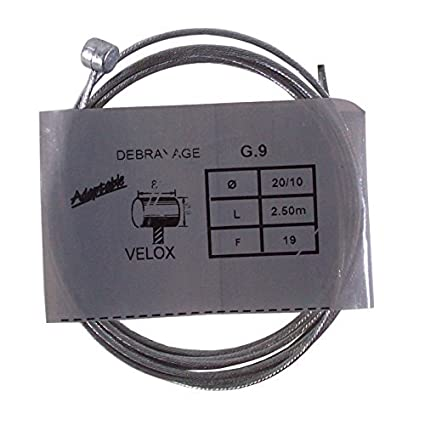 VELOX CABLE FRENO EMBRAGUE 2.0mm 2.5M CAMBIO MOTO VESPA CICLOMOTORE VINTAGE