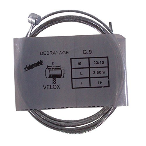 VELOX CABLE FRENO EMBRAGUE 2.0mm 2.5M CAMBIO MOTO VESPA CICLOMOTORE VINTAGE: Amazon.es: Coche y moto