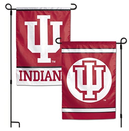 WinCraft NCAA Indiana University IU Hoosiers 12x18 Inch 2-Sided Outdoor Garden Flag