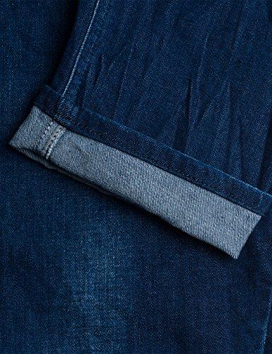 Katewin Mujer Para denim Replay Pantalones Azul Vaqueros 9 Delgados dxOzAwn
